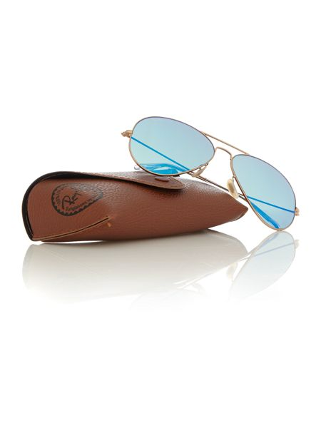 Ray-Ban RB3025 aviator large metal male gold aviator sung