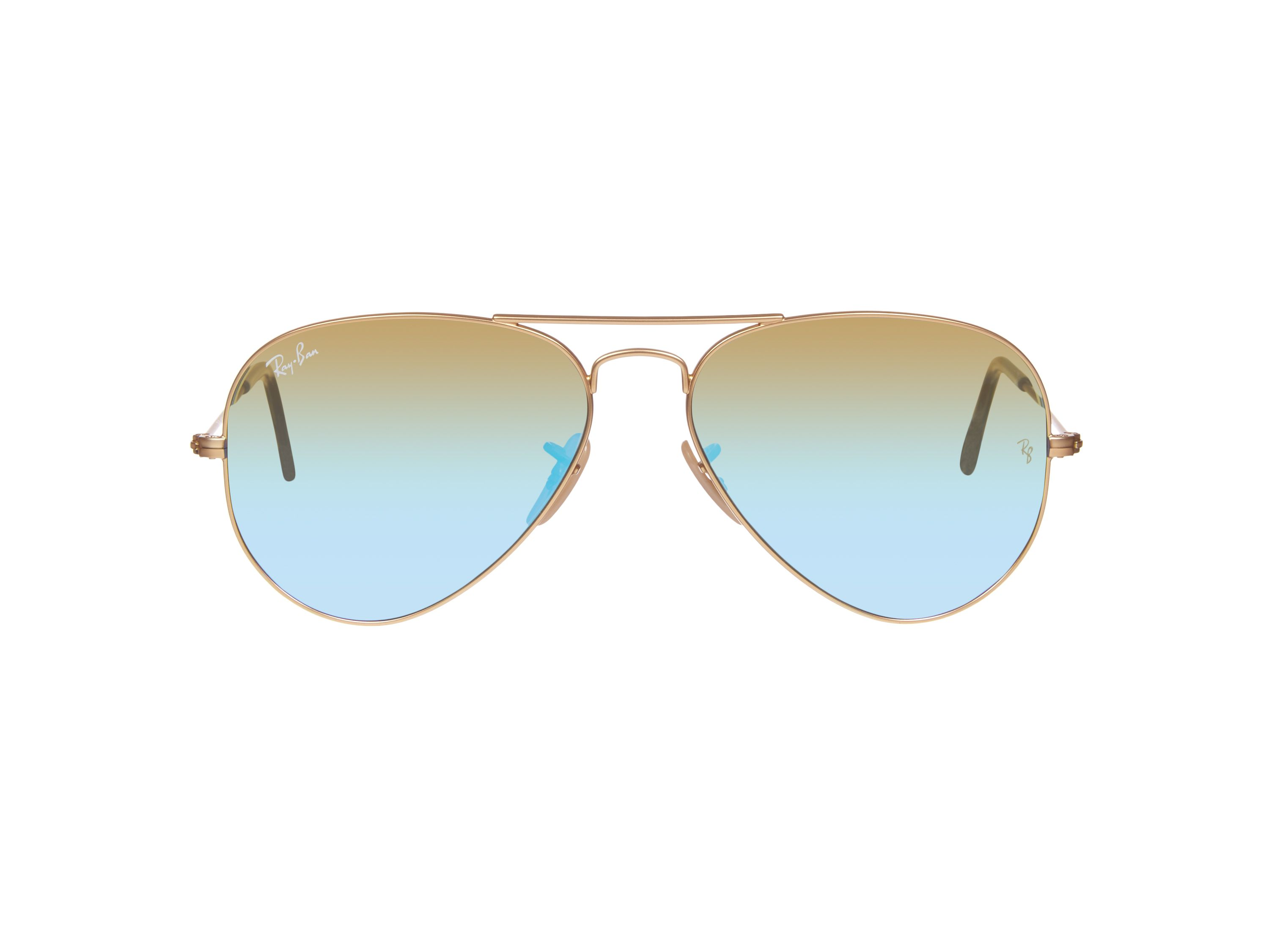 Men`s green mirror blue pilot sunglasses