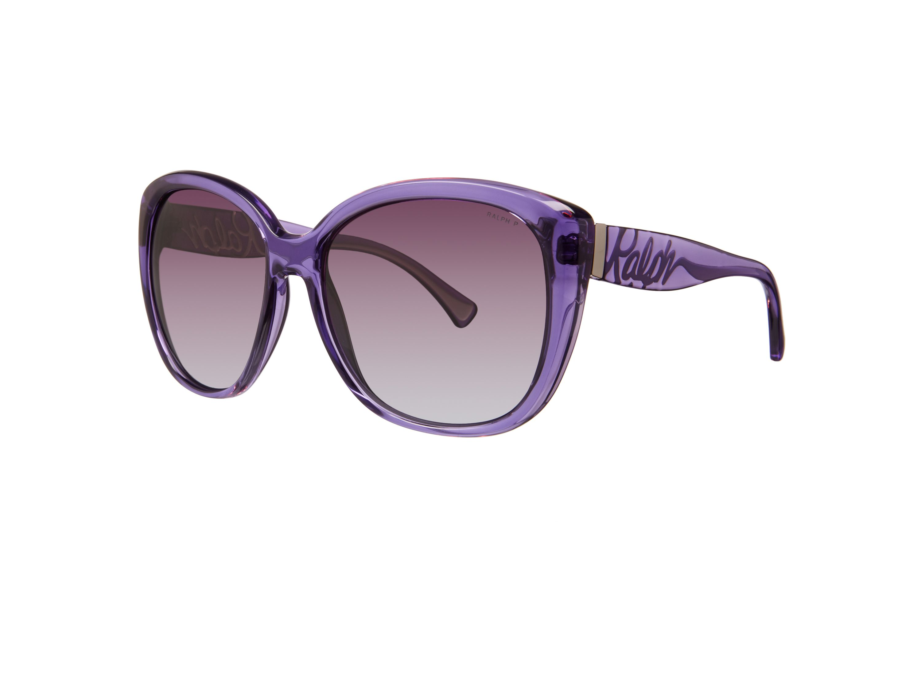 Women`s purple gradient polarized square sunglass