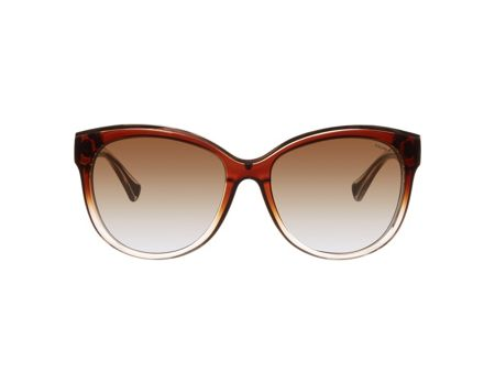 Ralph Women brown gradient polarized cat eye sunglasses
