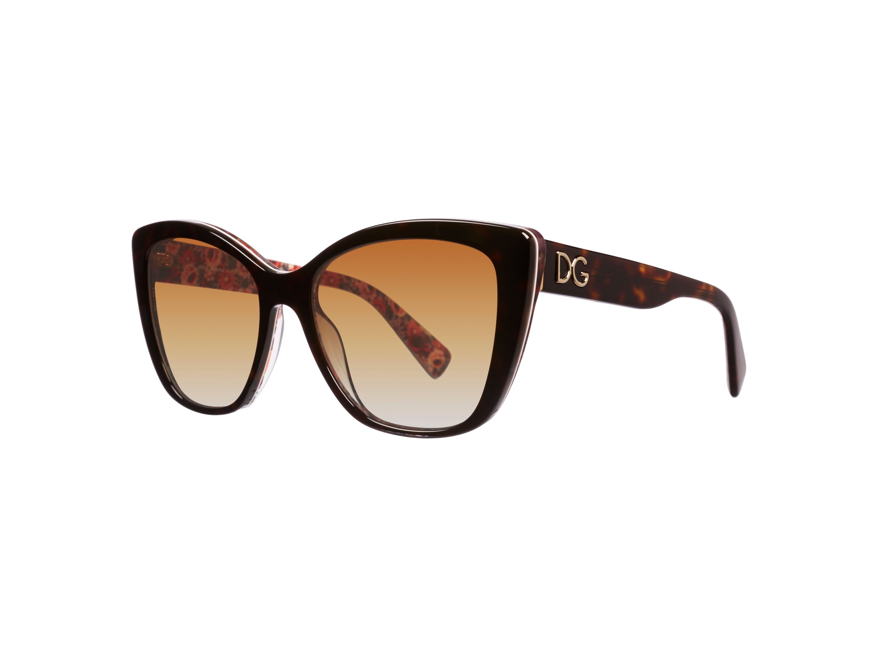 Women`s polar brown gradient butterfly sunglasses