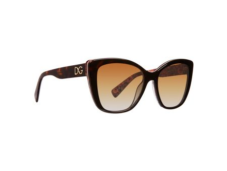 Dolce&Gabbana Women`s polar brown gradient butterfly sunglasses