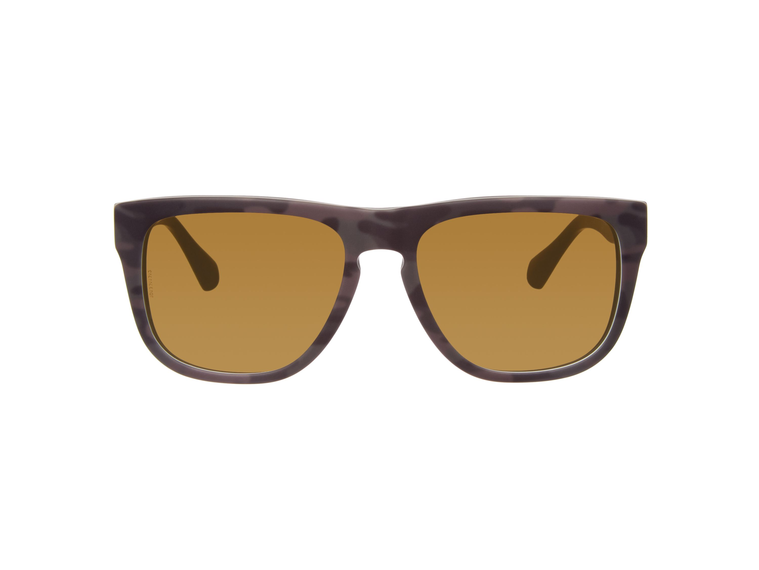 Men brown squared sunglasses
