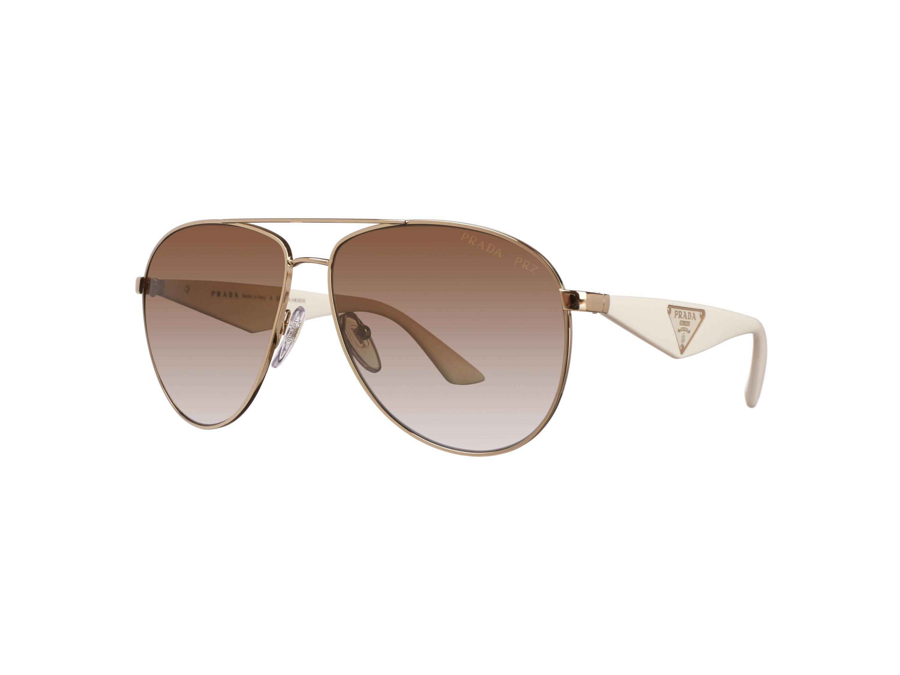 Women`s polar grey gradient brown pilot sunglasse
