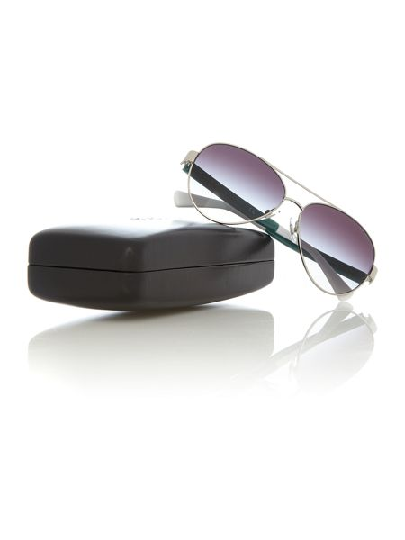 Ralph RA4114  female silver aviator sunglasses