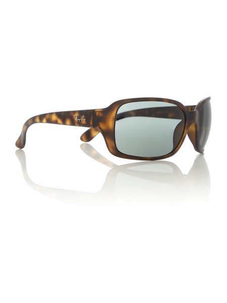 Ray-Ban RB4068  female brown square sunglasses