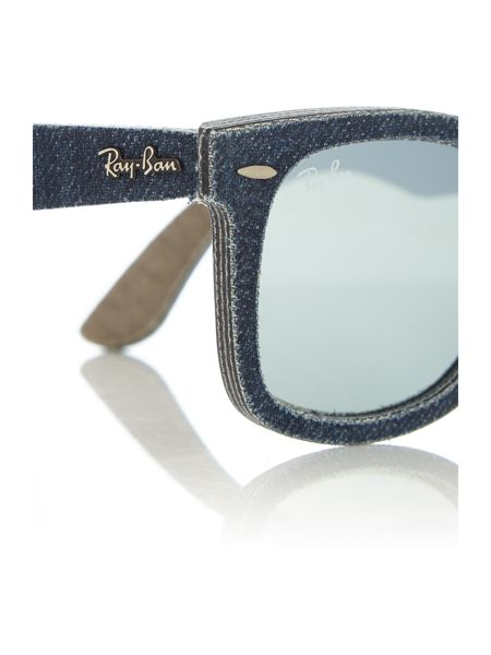 Ray-Ban RB2140 wayfarer unisex blue square sunglasses