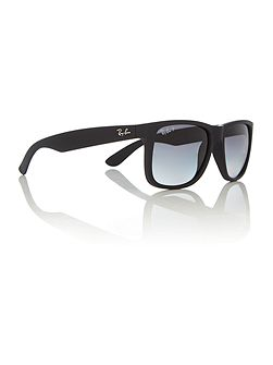 RB4165 Justin male black rectangle sunglasses