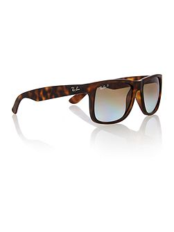 RB4165 Justin male brown rectangle sunglasses