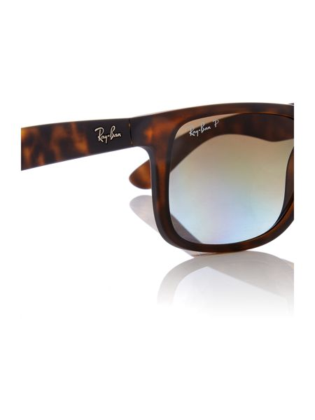 Ray-Ban RB4165 Justin male brown rectangle sunglasses