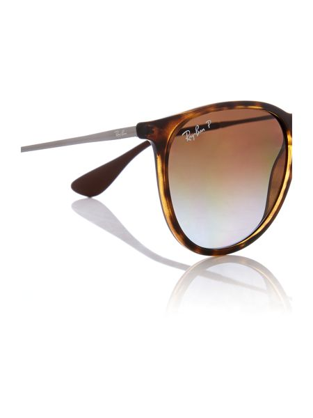 Ray-Ban RB4171 Erika male brown aviator sunglasses