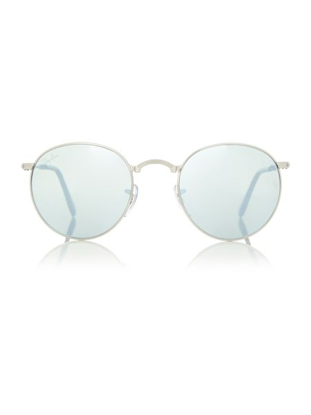 Ray-Ban RB3532  male silver round sunglasses