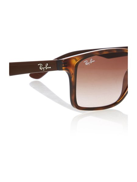 Ray-Ban RB4234  male brown rectangle sunglasses