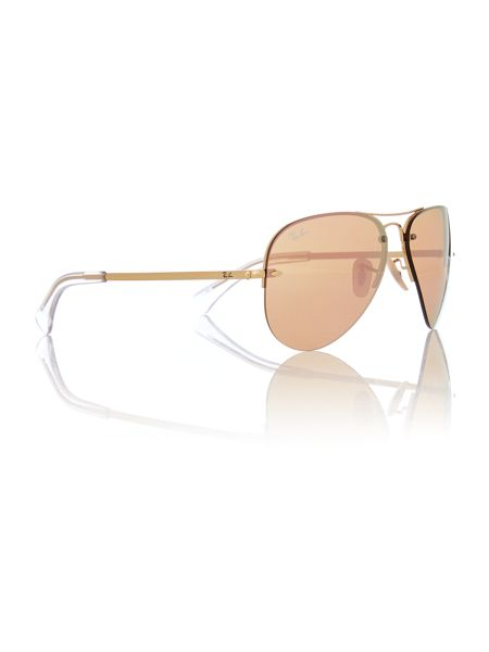 Ray-Ban RB3449  male gold aviator sunglasses