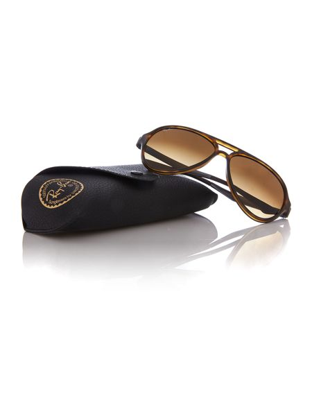 Ray-Ban RB4235  male brown aviator sunglasses