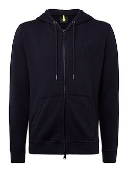 Ribbed cotton hoodie