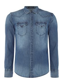 Replay Deep blue denim shirt
