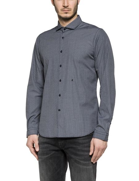 Replay Patterned cotton shirt