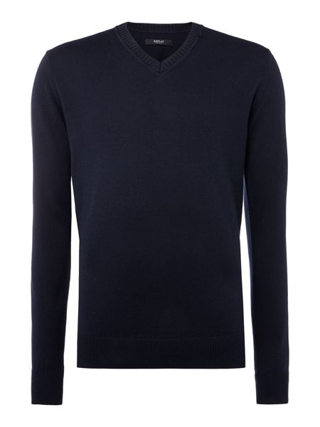 Replay Wool and cotton v-neck jumper