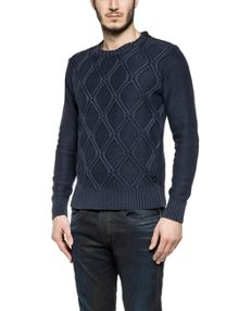 Replay Yarn-dyed cotton jumper