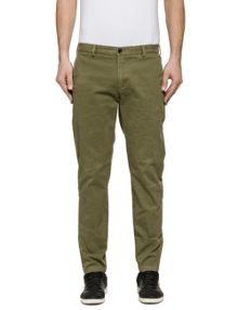 Replay Tapered-fit stretch twill trousers