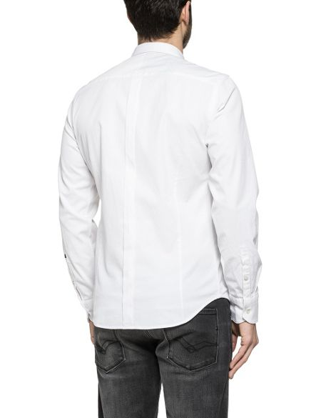 Replay Jacquard stretch cotton shirt
