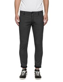 Replay Tapered-fit stretch dobby trousers