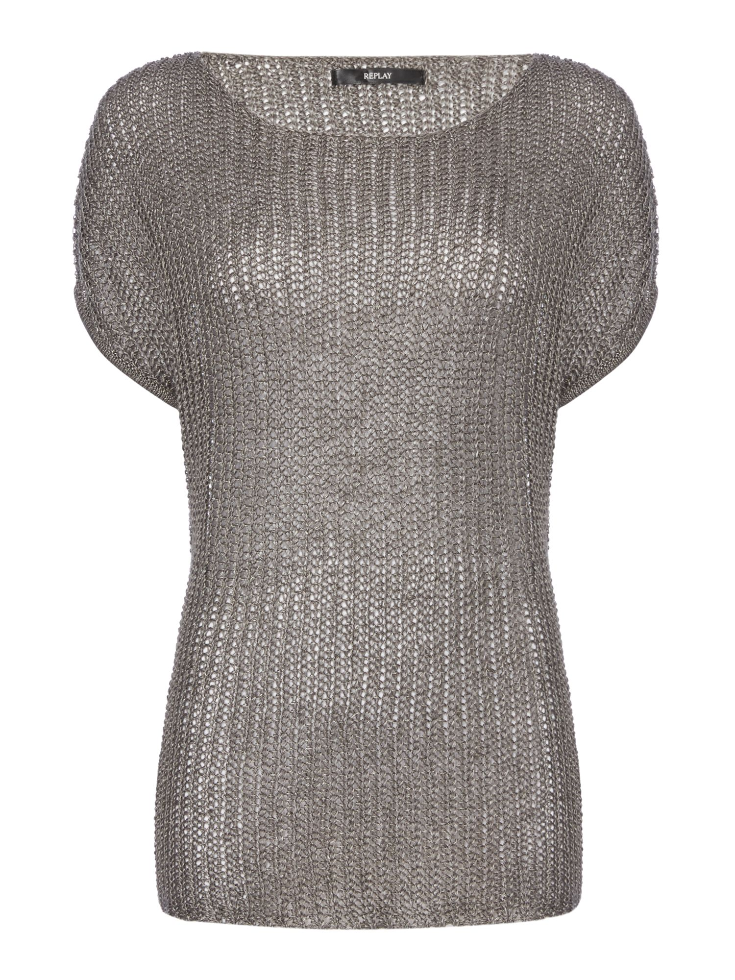 Replay Shortsleeve knitted jumper Grey
