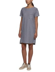 Replay Vertical striped jersey dress