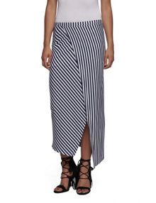 Replay Long striped jersey skirt