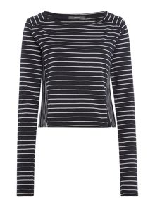 Replay Striped boat-neck T-shirt