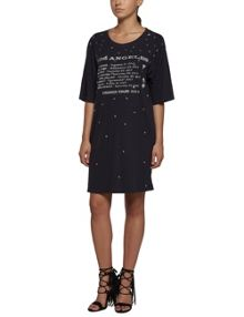 Replay Letter-print jersey dress