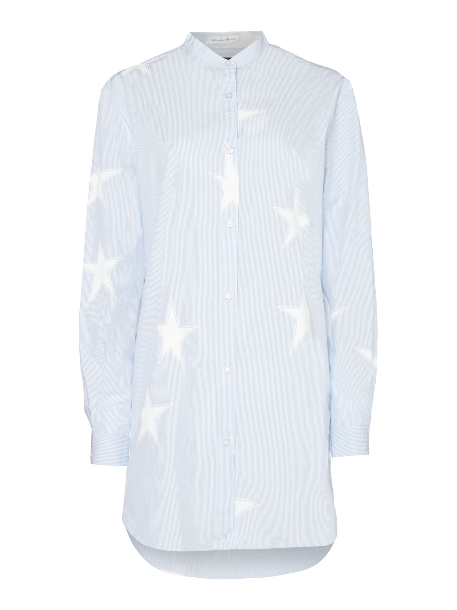 Replay Star-print longline shirt, Multi-Coloured