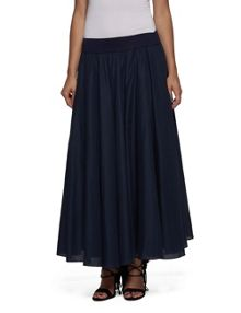Replay Long solid cotton skirt