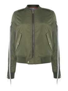 Replay Reversible jacket with ribbed details