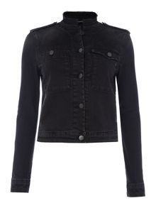Replay Denim jacket with frayed collar