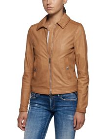 Replay Classic collar leather jacket