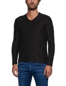 Replay Raw-edge cotton jumper