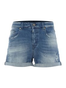 Replay Five-pocket denim shorts