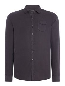 Replay Linen shirt with chest pocket