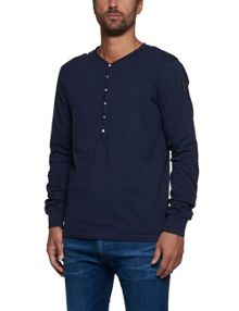 Replay Long-sleeve button-up T-shirt