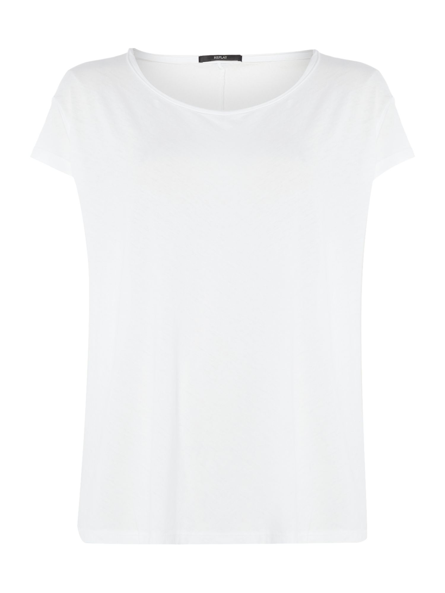 Replay Comfort-fit jersey T-shirt, White