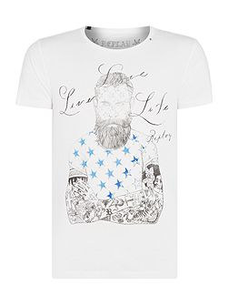 Cotton T-shirt with illustration print