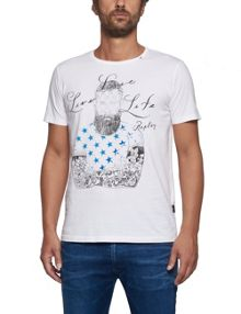 Replay Cotton T-shirt with illustration print