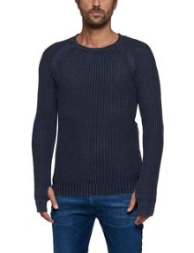 Replay Knitted cotton crewneck jumper