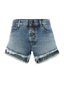 Replay Button-fly shorts