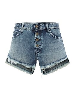 Button-fly shorts