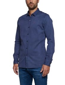 Replay Micro jacquard stretch shirt