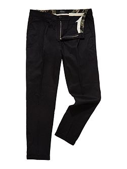 Slim-fit stretch dobby trousers