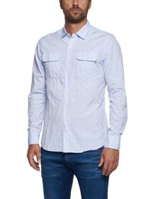 Replay Cotton shirt with chest pockets